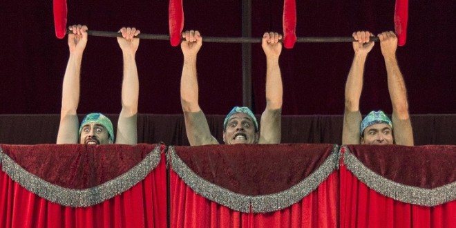 Festival de circo anima a praia do Furadouro